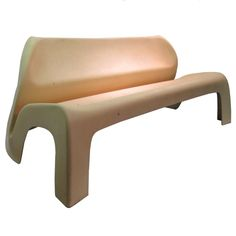 Fiberglass Garden Party Bench by Luigi Colani at http://www.1stdibs.com/furniture/seating/benches/