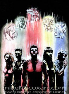 The Five Original MMPR Rangers - Mighty Morphin Power Rangers ...