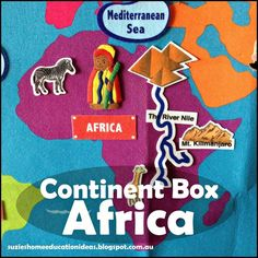 Continent Box of Africa from Suzie's Home Education Ideas