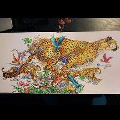 Premier animorphia terminé ! #coloriage #arttherapie #coloringforadults…