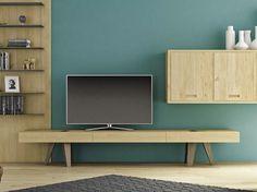 Móvel tv baixo de madeira HOP! by Domus Arte design Enrico Bedin