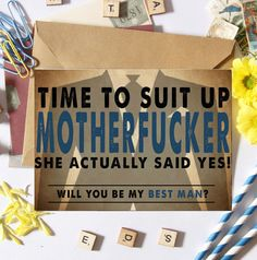 Funny Best Man Card Will you be my groomsman/ Best by NAFcards