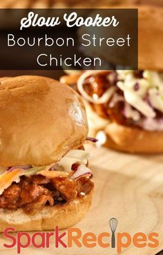 Slow Cooker Bourbon Street Chicken. Juicy and delicious. 5 stars!   via @SparkRecipes #dinner