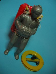 vintage 60's / 70's paratrooper kite toy by harrycobra, my brother had these...