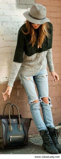 Street style. LOVE IT | More outfits like this on the Stylekick app! Download at http://app.stylekick.com