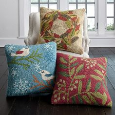 Hand-Hooked Holiday Pillow Cover | The Company Store