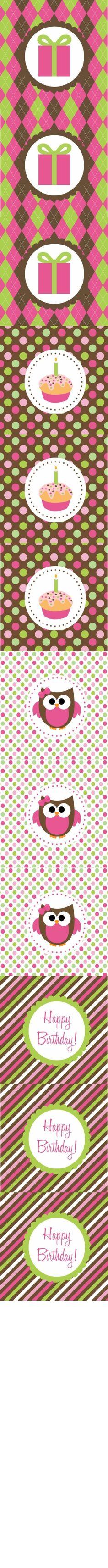 Owl Birthday Party Circles-General | Scribd