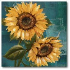 Courtside Market Farmhouse Canvas Sunflower II Painting Print on Wrapped Canvas   $53.99