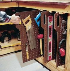 Handsaws Pegboard Tool Storage Ideas