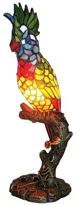 Tiffany Style Lighting - Parrot Accent Lamp , $119.00 (http://www.tiffanystylelighting.us/parrot-accent-lamp/)