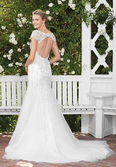 ee8c741d267 Casablanca Bridal. Keyhole Back Wedding DressFit And Flare ...