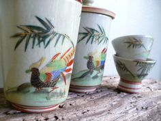 Vintage Japanese tea cups