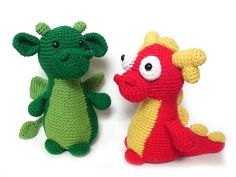 Crochet PATTERN: Dragon -pdf-
