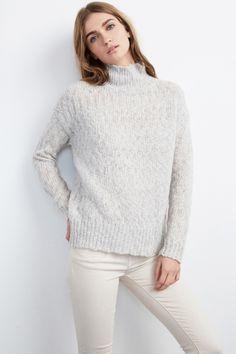 MONALISA TEXTURED STITCH TURTLENECK SWEATER - Knits & Sweaters - Tees & Tops - Women
