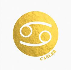 Gold Foil Cancer ♋ Zodiac Sign | Astrology Art