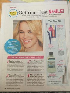 Our Norwex toothbrush is featured in People's Style Watch magazine. you can order directly from www.KariKelly.Norwex.biz