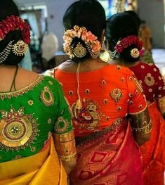 Embroidery Work Blouses with Back Neck Designs That Suits Every Saree Blouse Back Neck Designs, Silk Saree Blouse Designs, Bridal Blouse Designs, Silk Sarees, Blouse Patterns, Blouse Models, Fancy, Work Blouse, Indian Designer Wear