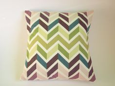 Chevron Patchwork Cushion/ Pillow Cover by kirstylicious on Etsy, £18.00