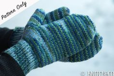 This is a pattern to knit chunky mittens, similar to the ones in my shop. It uses circular knitting needles, and is a simple - intermediate pattern,