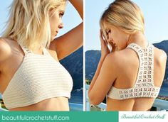 Lace back crop
