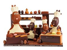 This 100% Chocolate Easter Bunny Display Will Run You $1200