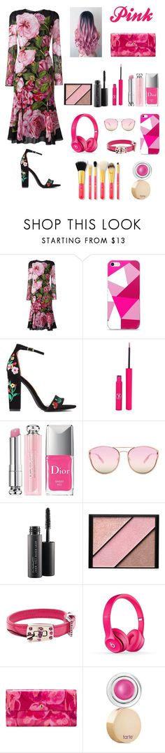 """pink punk"" by rumaisa-hadia ❤ liked on Polyvore featuring Dolce&Gabbana, Sigma, Christian Dior, Quay, MAC Cosmetics, Elizabeth Arden, Miu Miu, Louis Vuitton and tarte"