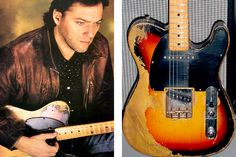 David Gilmour and the glorious scuffed 1955 Fender Esquire, known as 'the workmate', as seen on About Face