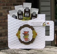 "Papers: Whisper White, Summer Starfruit, Soft Suede  Accessories: Big Shot, Labels Collection and Apothecary Accents Framelits, Fancy Fan EF, 1-1/4"" Square Punch, Modern Label Punch, 3/16"" Corner Punch, Pumpkin Pie Brads, Blender Pen, Paper Piercing Tool,  Scissors, Dimensionals, Starbucks Coffee Packet"