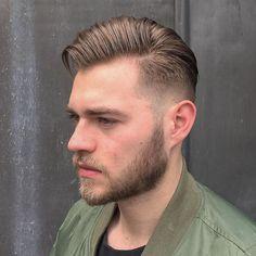 Medium Length Skin Fade + Beard #cool haircuts for men #new haircuts for men for 2016 #cool hairstyles