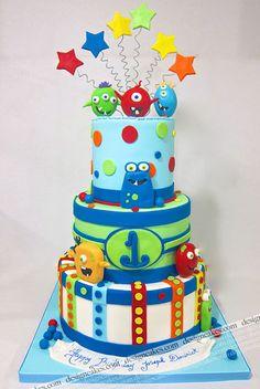 Little monsters birthday cake!