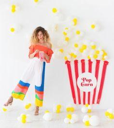 Popcorn Balloon Backdrop   Oh Happy Day!