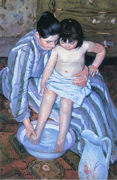 Mary Cassatt: The Child's Bath, 1893. Oil on canvas. The Art Institute of Chicago.