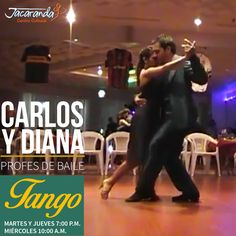 En el tango los cuerpos tienen que armar un circuito de tensiones encontradas. El brazo tiene que estar firme, sin empujar. Las piernas en contacto, sin asfixiarse ni impedirse el movimiento. Aprende a bailar tango con los profes Carlos y Diana. #AmigosJacaranda #JacarandaCali #ClasesTangoCali