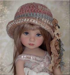 OOAK ROSE PARFAIT Hat by Linda 4 Effner Little Darling, Ellowyne, Prudence, BJD