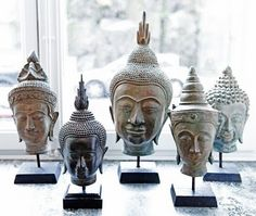 Buddha heads in the second living room. Can pick up in Philly.