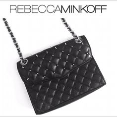 HPREBECCA MINKOFF Studded Quilted Mini REBECCA MINKOFF Studded Quilted Mini Affair Cross body. I've only used this once, it is in great condition as you can see in the photos. Does not come with dust bag. Price is firm. Measurements 6.5 x 2 x 8.5 in. Rebecca Minkoff Bags Crossbody Bags