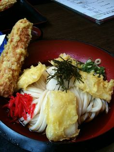 Japanese Udon, with Mochi Tempura