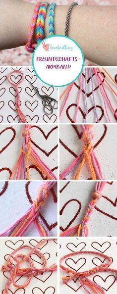 Diese süßen Freundschaftsbänder sindideal für Kinder und lassensich schnell aus bunter Wolle flechten- eine super Gelegenheit für große und kleine Freun