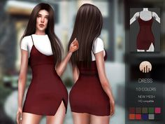 The Sims 4 mody do gry: Sukienka od Busra-tr Sims Mods, Sims 4 Mods Clothes, Sims 4 Game Mods, Sims 4 Clothing, The Sims 4 Pc, My Sims, Sims Cc, Best Sims, Sims 4 Tsr