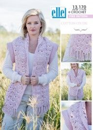 Nothing says stylish like this beautiful garment using Elle Cotton On Double Knit Hand Knitting Yarn, Easy Knitting Patterns, Loom Patterns, Double Knitting, Baby Patterns, Free Knitting, Free Crochet, Crochet Patterns, Crochet Stitches