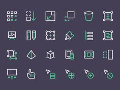 Part of my job for Nucleo. Some icons for category Design & Dev.  New icons are available in http://nucleoapp.com/