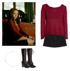 """Bonnie Bennett - tvd / the vampire diaries"" by shadyannon ❤ liked on Polyvore featuring Monki and Catbird"