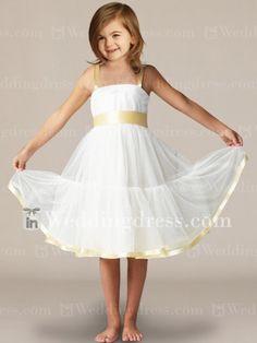 flower girl dresses_Light Ivory / Sunshine
