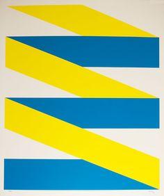 Bonies . Compositie blauw/geel