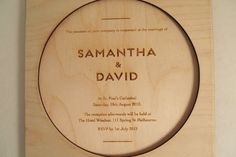 Classic Wedding Invitation|Wooden Sphere - http://www.classicweddinginvitations.com.au/wooden-sphere/ - From $8.50