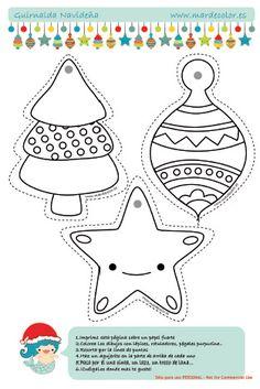 Guirnalda navideña para los niños