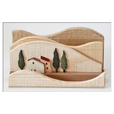 Porta Carte e Porta Penna Wooden Art, Wooden Crafts, Wood Wall Art, Wood Projects, Woodworking Projects, Xmas Cross Stitch, Driftwood Crafts, Scroll Saw, Wood Toys