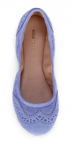 Periwinkle Wing Top Flats