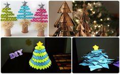 Árboles navideños de papel