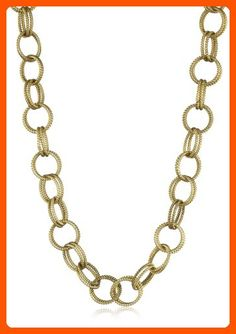"Betsey Johnson Gold-Tone Textured Chain-Link Long Necklace, 36"" - All about women (*Amazon Partner-Link)"